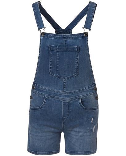 Combishort jeans déchiré